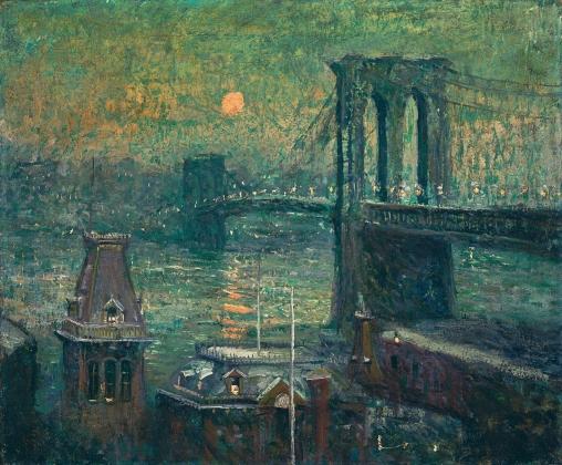 Эрнст Лоусон. Бруклинский мост. 1907-10