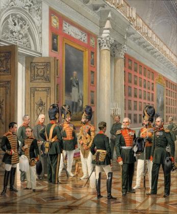 К.К.Пиратский. Военная галерея 1812 года в Зимнем Дворце. 1861