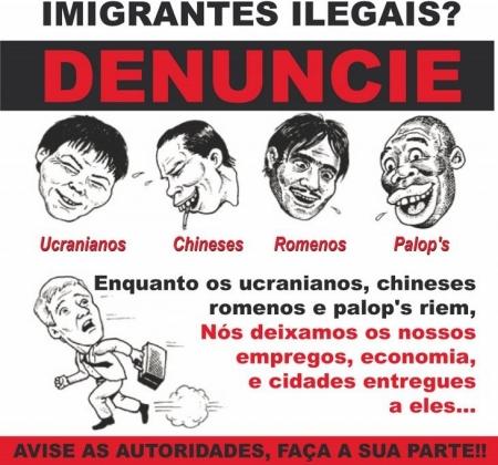 Португальская расистская и ксенофобская пропаганда — теперь против украинцев. Листовка португальских радикалов