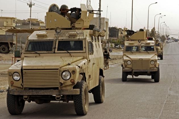 Иракский патруль в Мосуле