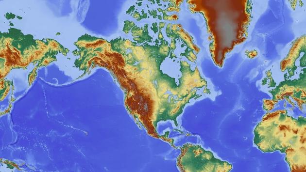 Карта. Северная Америка