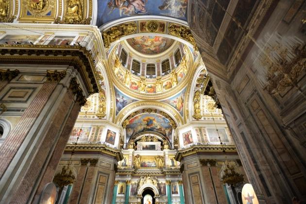 Внутреннее убранство Исаакиевского собора