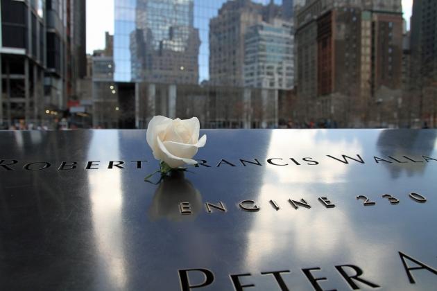 Манхеттен, Нью-Йорк. Мемориал жертвам теракта 11 сентября 2001 года
