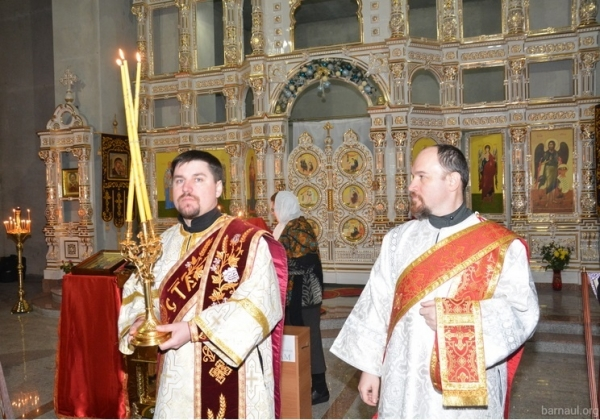 Освящение храма Иоанна Предтечи в Барнаула