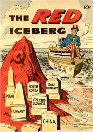 Красный айсберг. Пропагандистский плакат. США