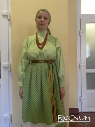 Национальный наряд одной из народностей, проживающих на Алтае