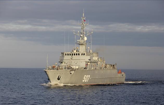 Морской тральщик из стеклопластика для ВМФ России заложен в Петербурге