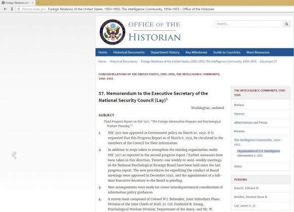 Оперативный отчет о ходе психологической войны — документы ЦРУ