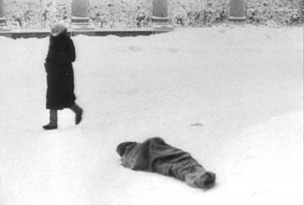 Блокада Ленинграда. Труп на улице. 1941