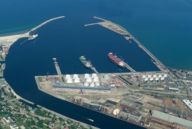 Латвийский порт Вентспилс