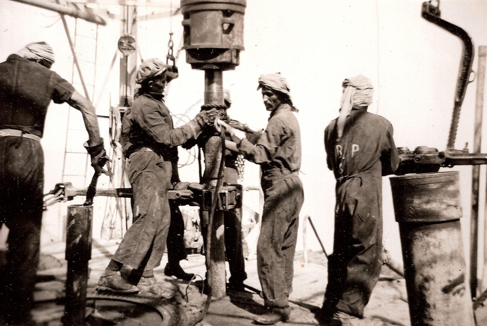 Добыча нефти у берегов Саудовской Аравии. 1950