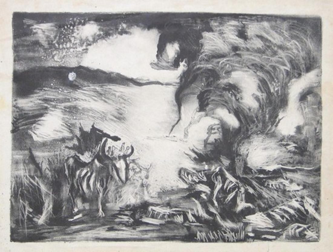 Джексон Поллок. Пейзаж. 1937