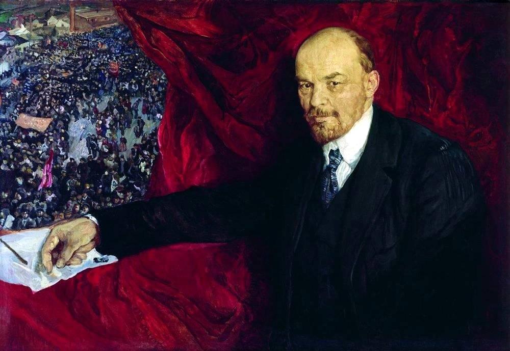 Исаак Бродский. Ленин и манифестация. 1919