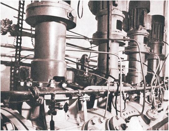 Рис. 1. Ферментер объемом 3 куб. м — основной элемент опытного производства биомассы водородных бактерий (г. Красноярск)