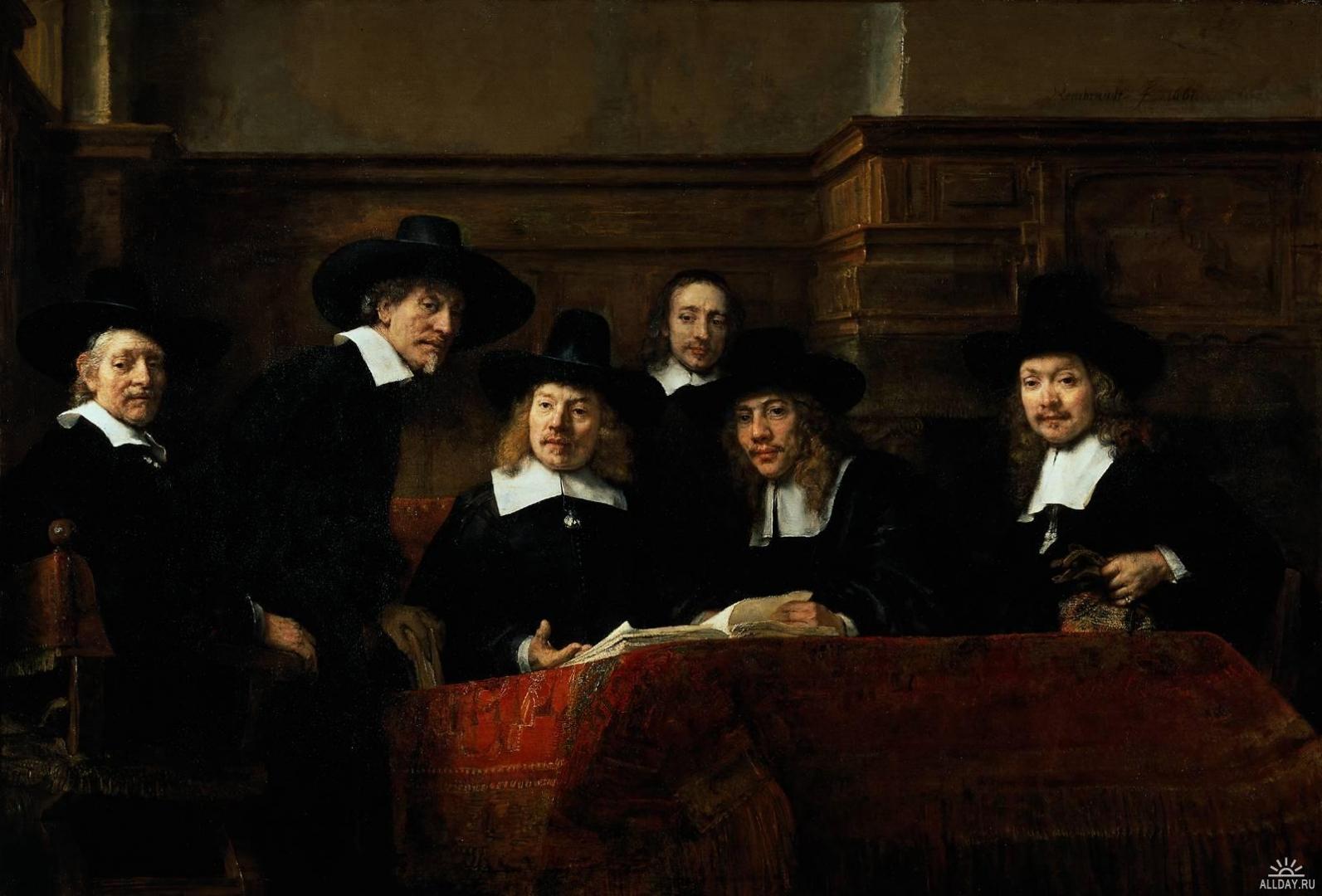 Рембранд ван Рейн. Групповой портрет чиновников
