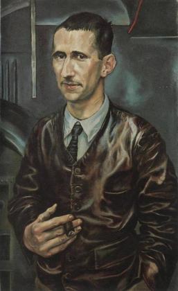 Р. Шлихтер. Бертольд Брехт —шофер грузовика. 1926