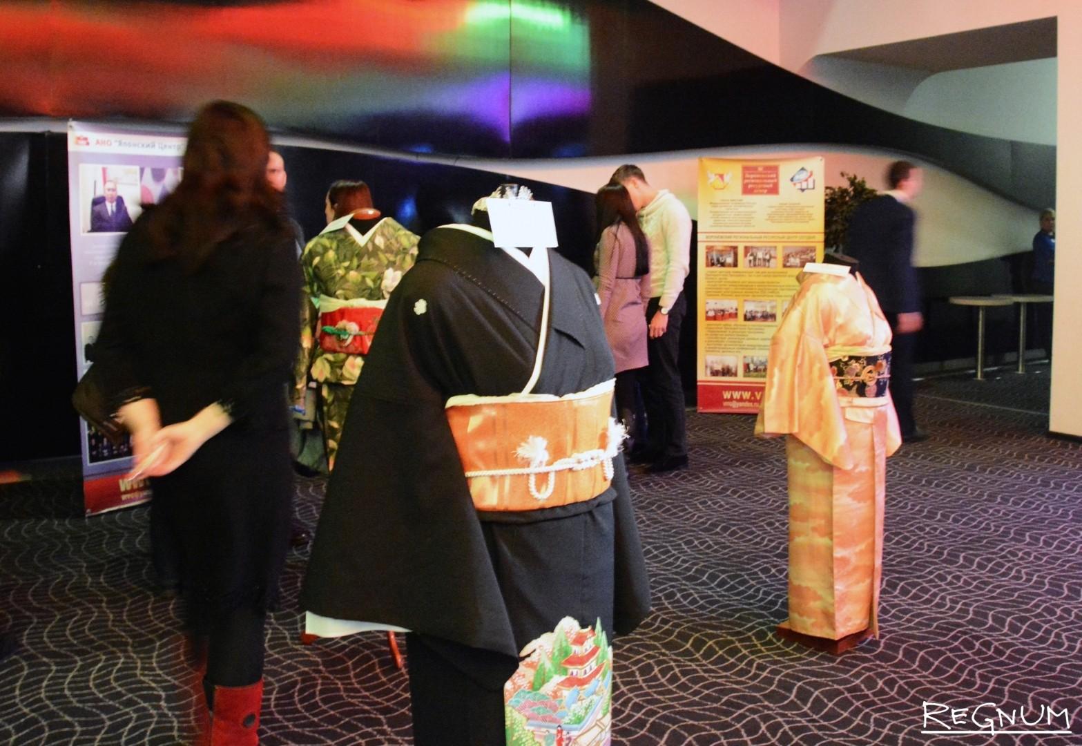 Выставка кимоно и элементов традиционной японской одежды