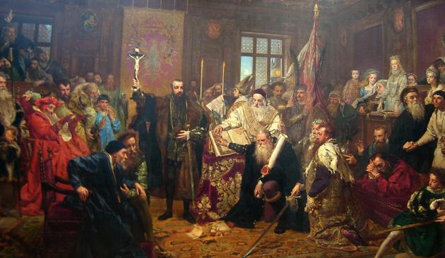 Ян Матейко. Люблинская уния. 1869
