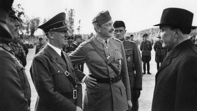Адольф Гитлер прибыл в Финляндию на празднование 75-летия Маннергейма