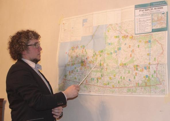 Карта распределения объектов немецкого влияния на территории Калининградской области