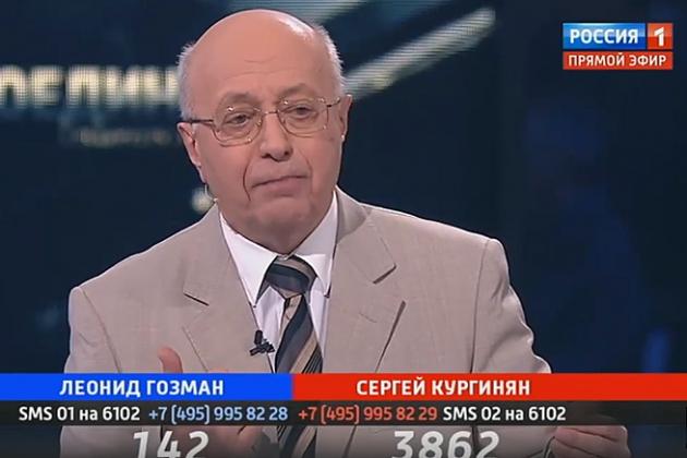 «Опомнитесь!»: Кургинян вновь одержал победу на «Поединке» у Соловьёва