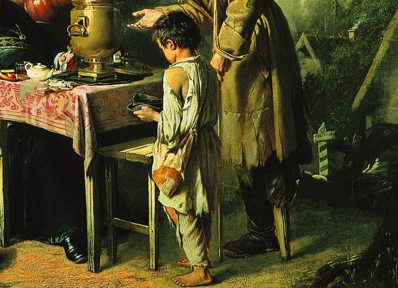 Василий Перов. Чаепитие в Мытищах (фрагмент) 1862