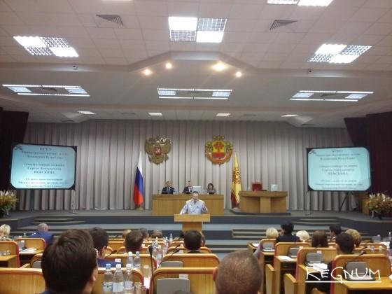 Отчёт Сергея Неяскина перед депутатами