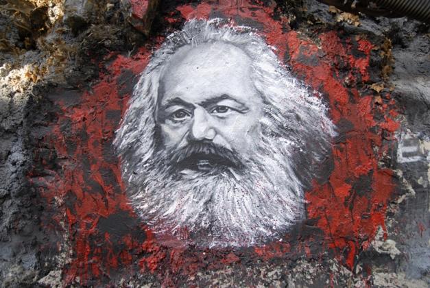 Карл Маркс на граффити