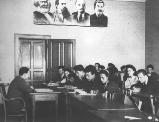 Занятие по диалектическому материализму в Румынии. 1951
