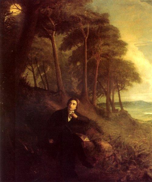 Джозеф Северн. Портрет Джона Китса, слушающего соловья. 1845
