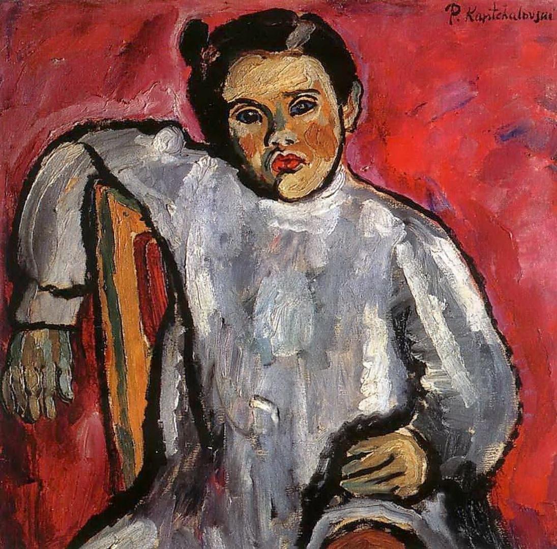 Петр Кончаловский. Наташа на стуле (Портрет Н. П. Кончаловской в детстве). 1910