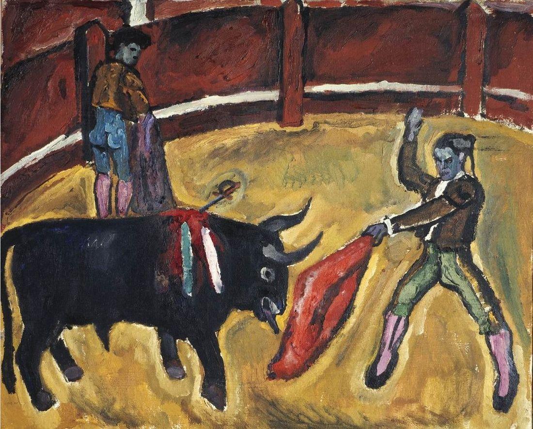 Петр Кончаловский. Бой быков. Эскиз для картины. 1910