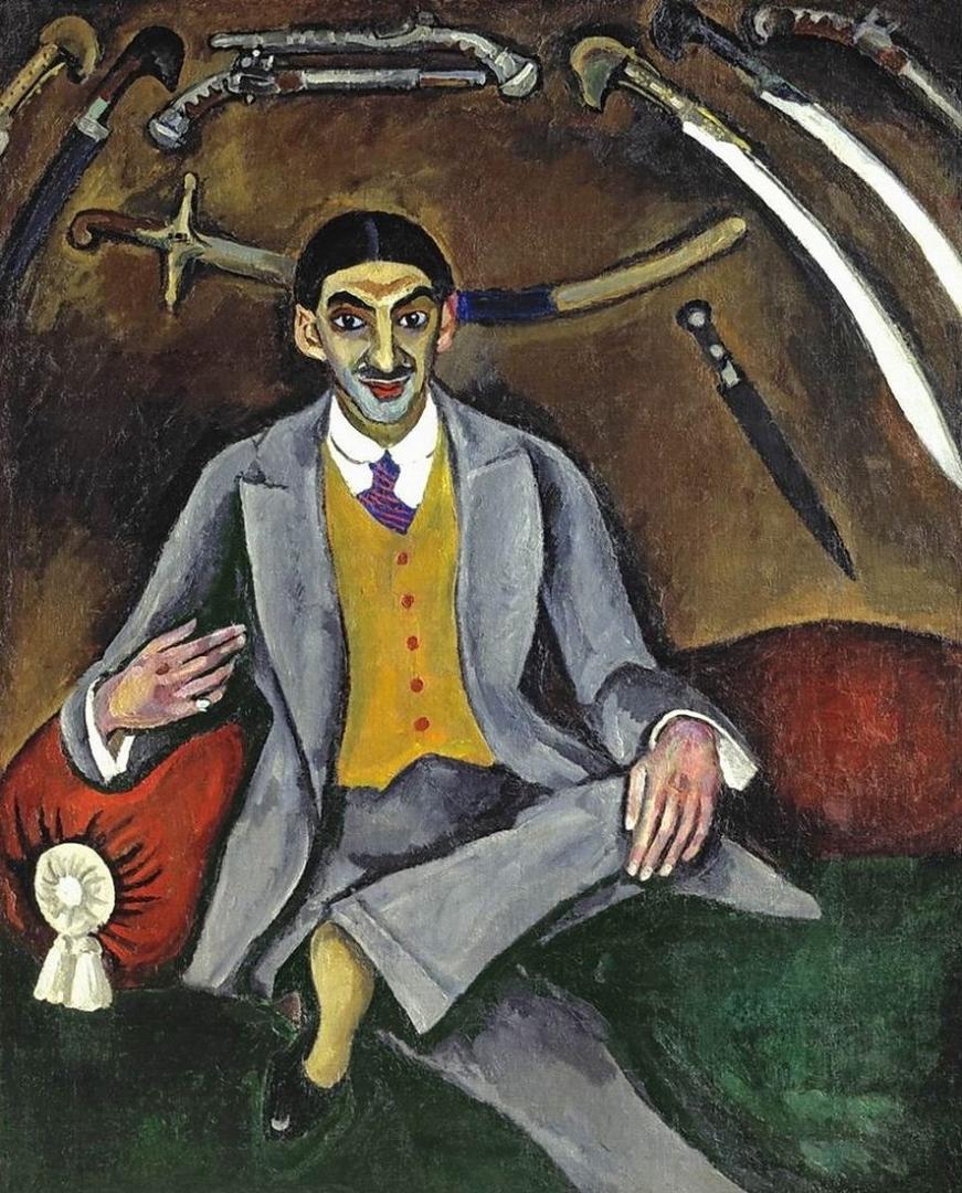 Петр Кончаловский. Портрет художника Г. Б. Якулова.  1910