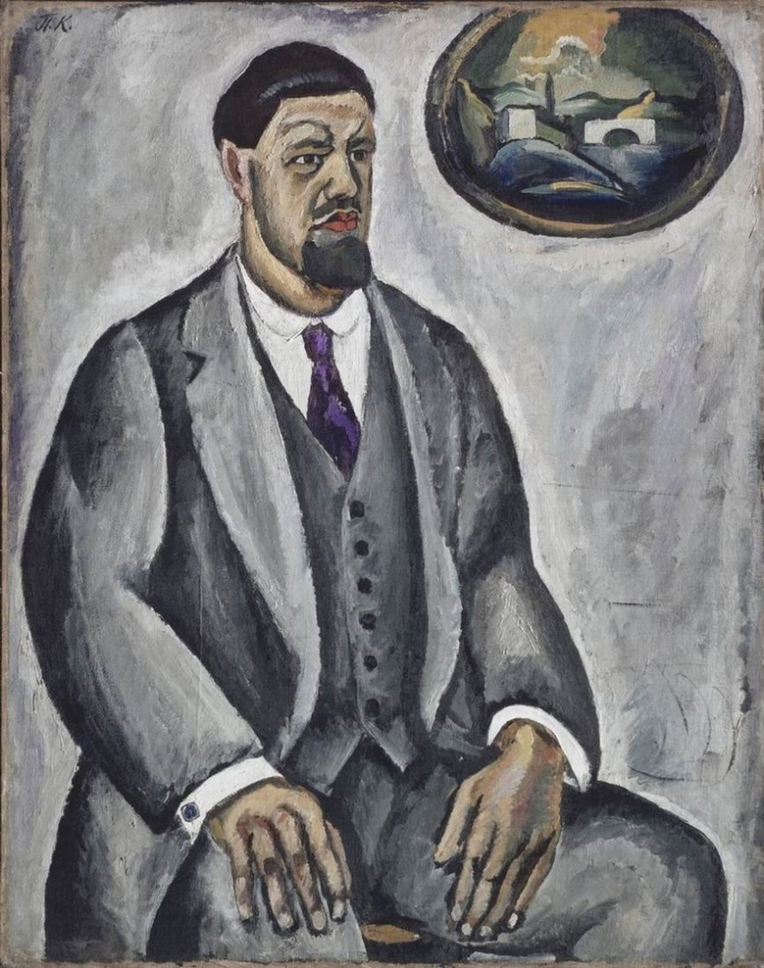 Петр Кончаловский. Автопортрет в сером. 1911