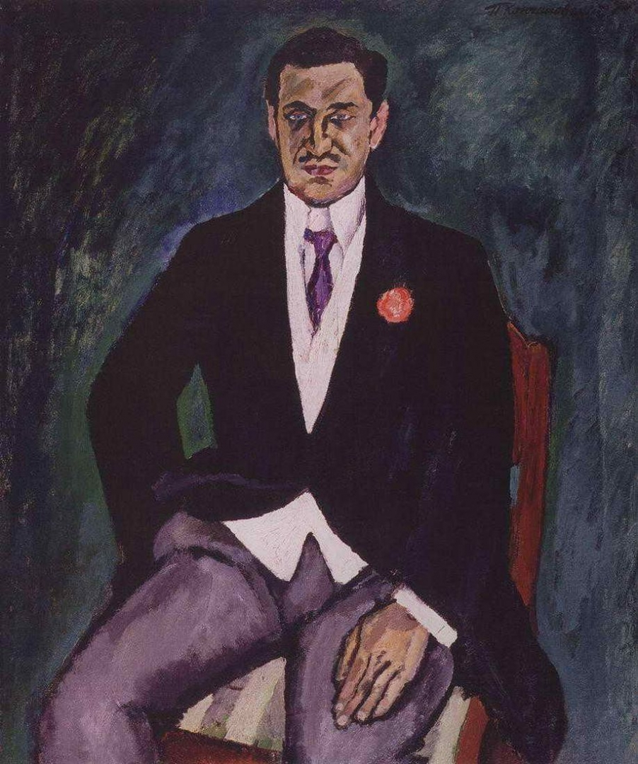 Петр Кончаловский. Портрет барона К. К. Рауша фон Траубенберга. 1911