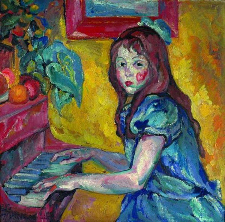 Петр Кончаловский. Портрет дочери. 1912