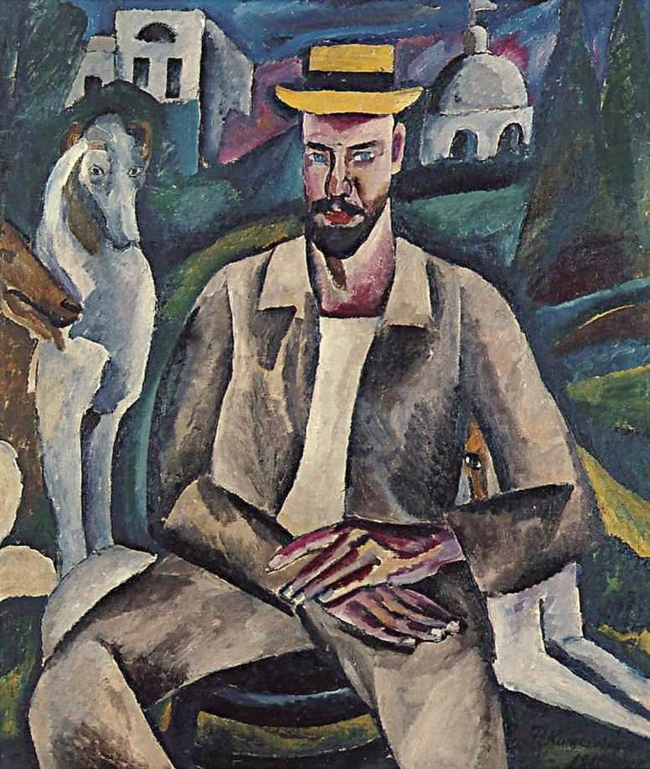 Петр Кончаловский. Портрет художника В. В. Рождественского. 1912