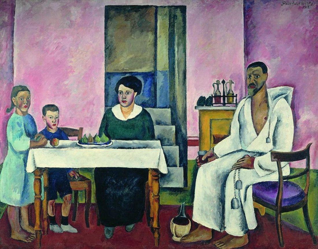 Петр Кончаловский. Семейный портрет (Сиенский). 1912