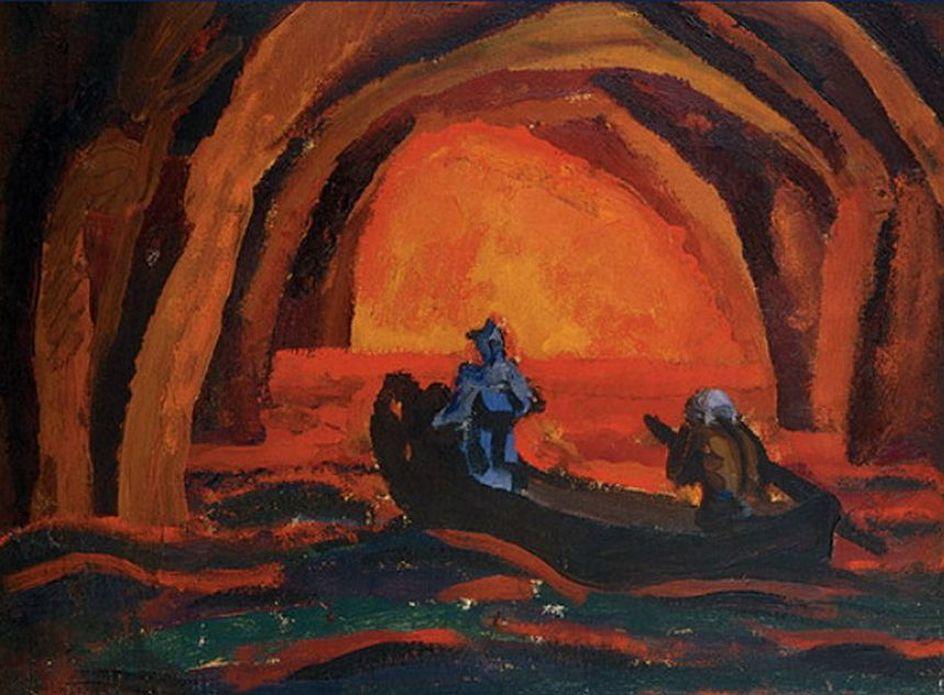 . Петр Кончаловский. Эскиз декорации к опере Вольфганга-Амадея Моцарта Дон Жуан. 1913