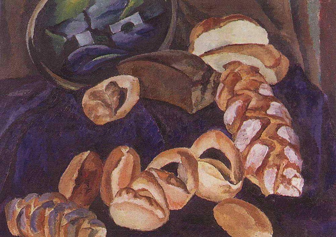 Петр Кончаловский. Хлебы на синем. 1913