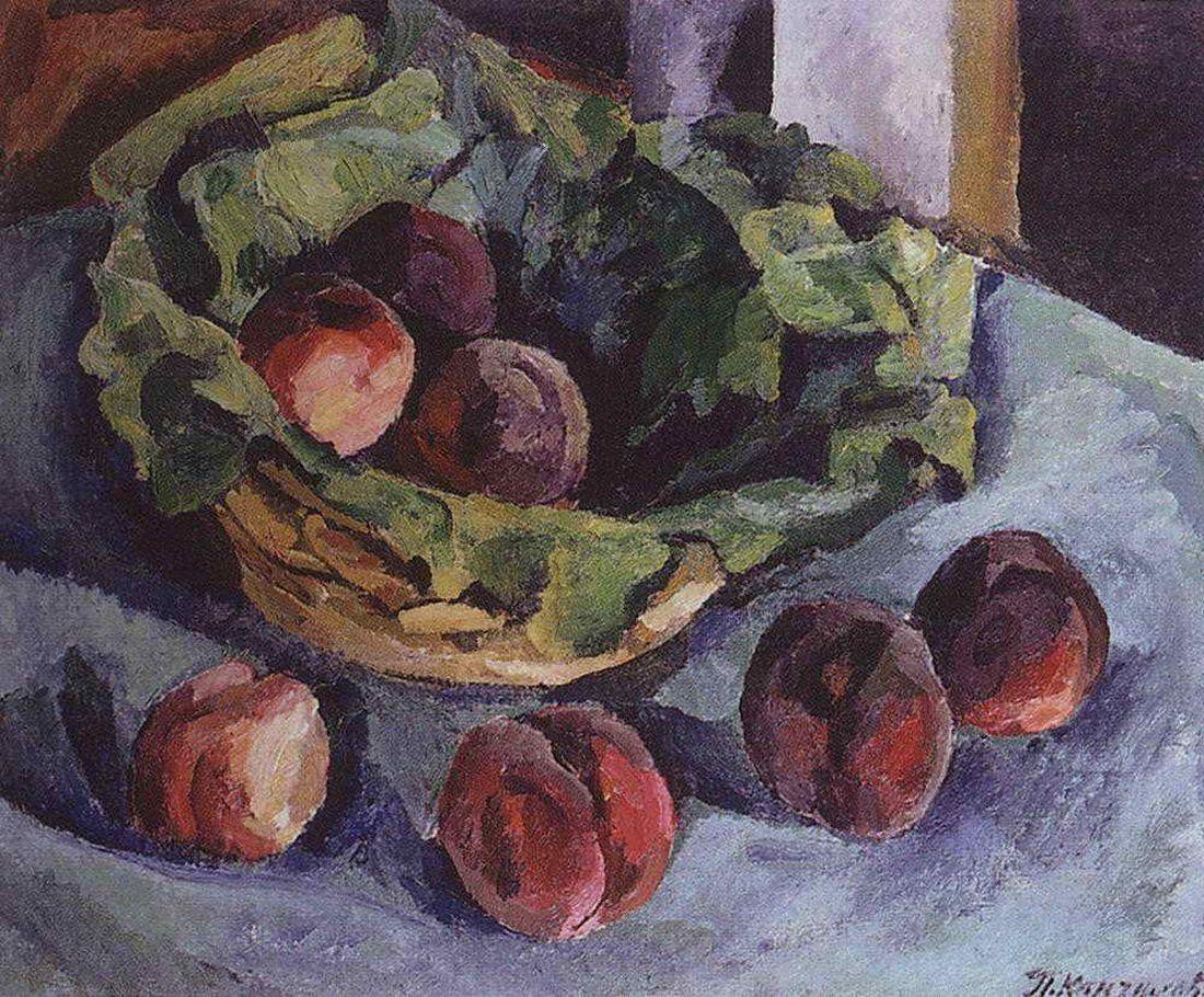 Петр Кончаловский. Натюрморт. Персики. 1919