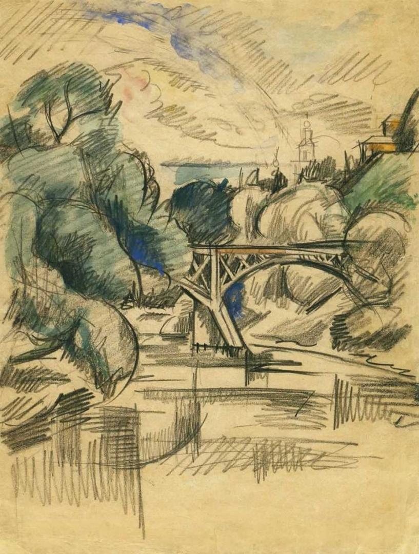 Петр Кончаловский. Мост. 1919