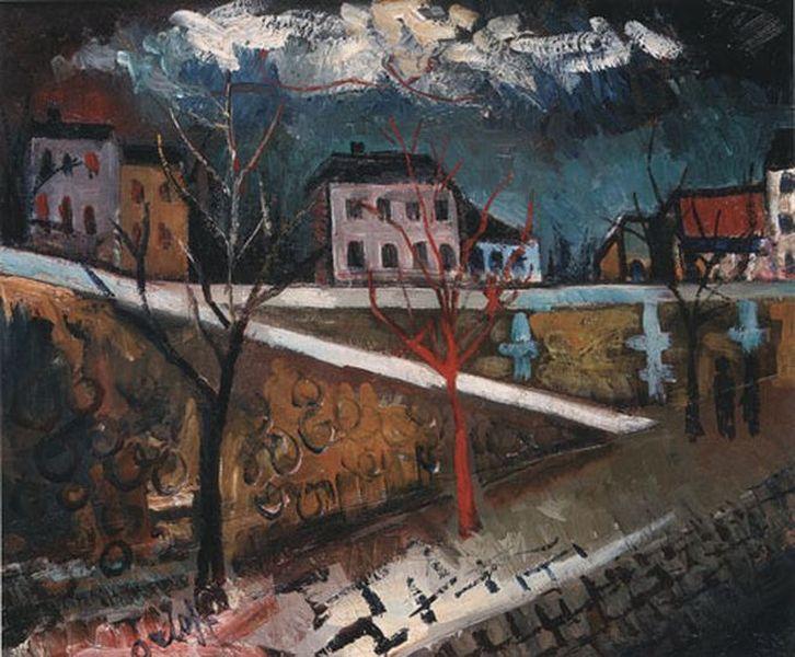 Петр Кончаловский. Вечер на пирсе. 1920