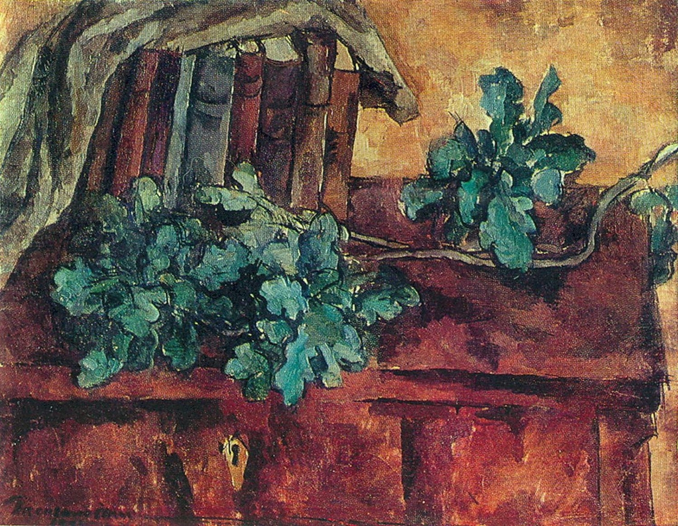 Петр Кончаловский. Натюрморт. Дубовая ветка. 1921