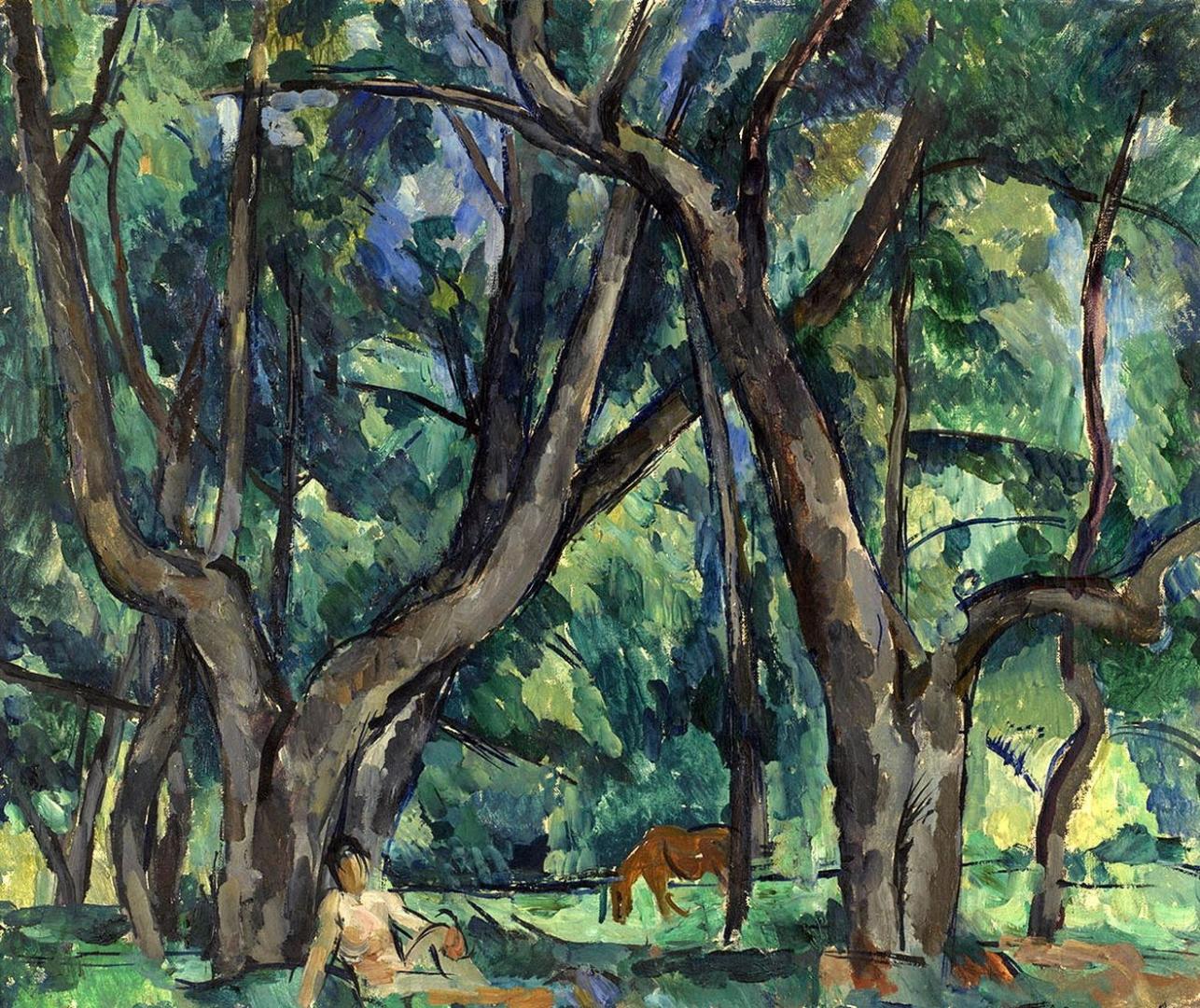 Петр Кончаловский. Мальчик в парке. 1921