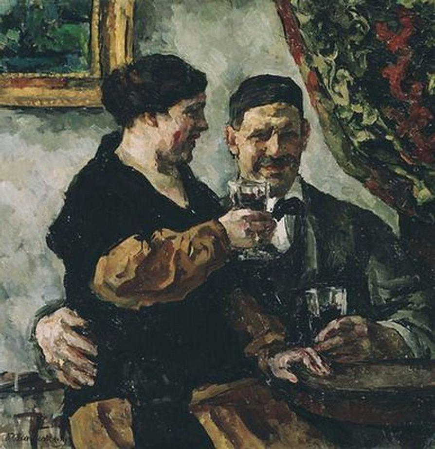 Петр Кончаловский. Автопортрет с женой. 1923