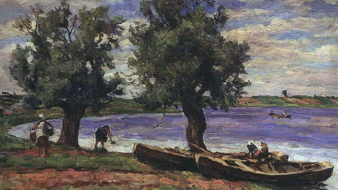 Петр Кончаловский. Озеро Ильмень. 1925