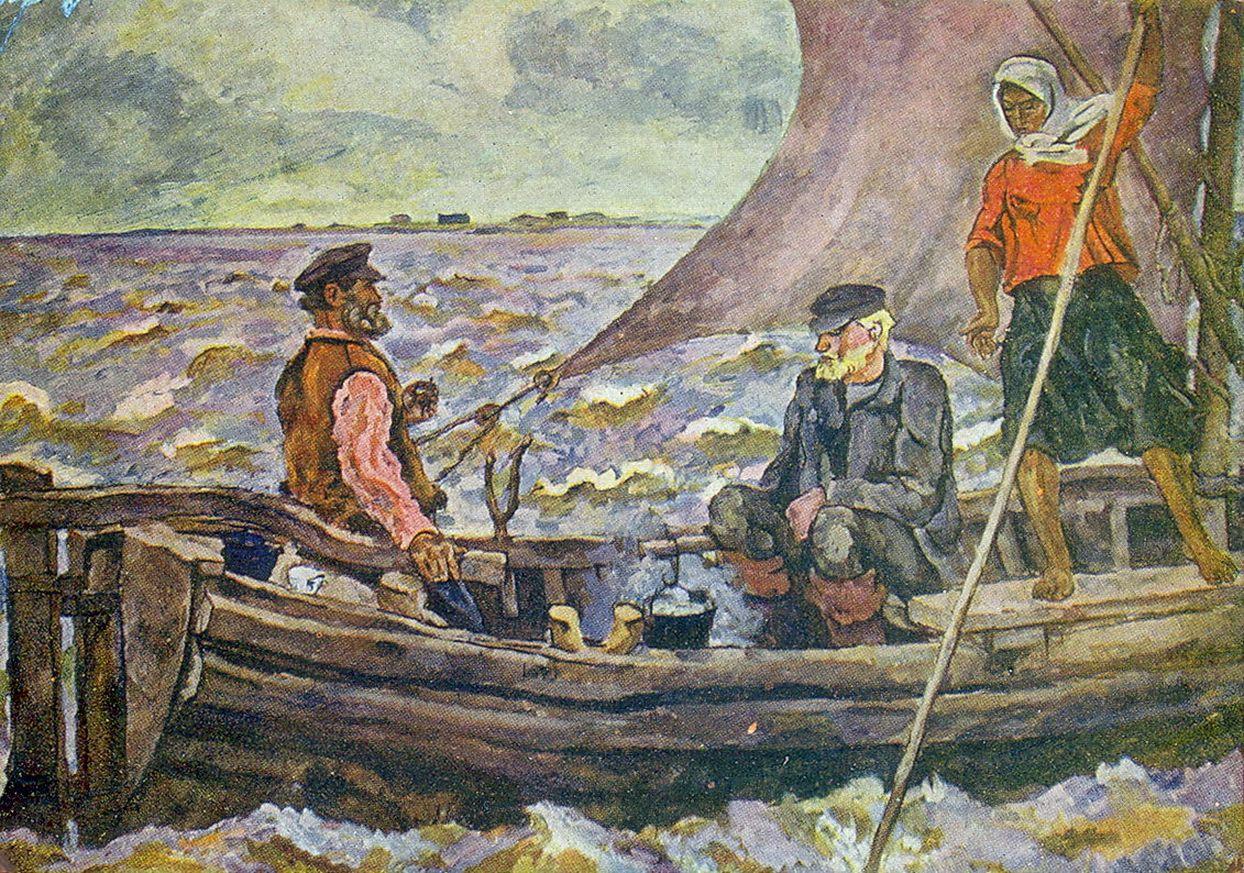 Петр Кончаловский. На Ильмень-озере. 1928