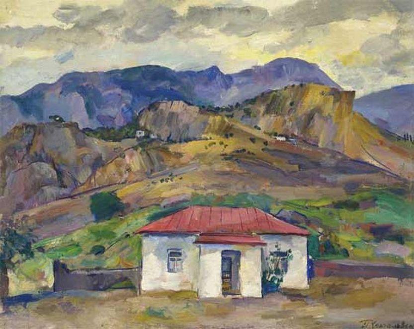 Петр Кончаловский. Гурзуф. Горный пейзаж. 1929