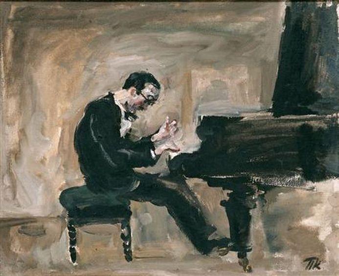 Петр Кончаловский. Портрет итальянского пианиста и дирижера Карло Цекки. 1930
